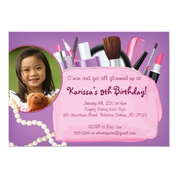 Get Glammed Up - Make-up / Spa Invitation