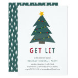 Get Lit   Holiday Cocktail Party Invitation