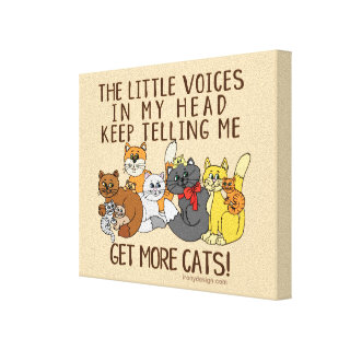 Get More Cats Funny Saying Canvas Print