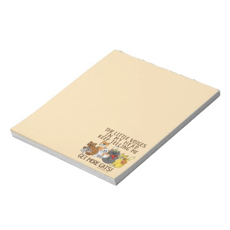 Get More Cats Funny Saying Notepad