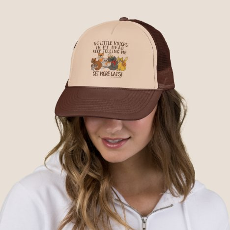 Get More Cats Funny Saying Trucker Hat