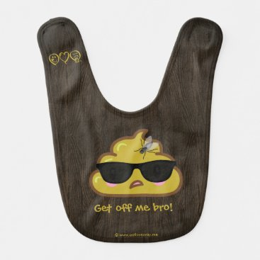Get off me bro!  Poopiteers  - Fly on poop Bib