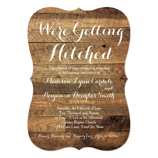 Getting Hitched Signature White Bridal Shower Invitations In Medium Pink Or Green Oh Joy