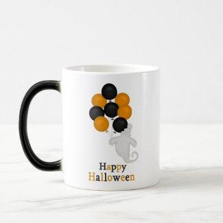 Ghost and Balloons Happy Halloween Mug mug