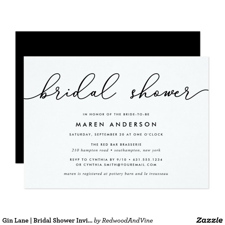 Gin Lane | Bridal Shower Invitation