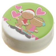 Gingerbread Cookie Couple Christmas Chocolate Covered Oreo