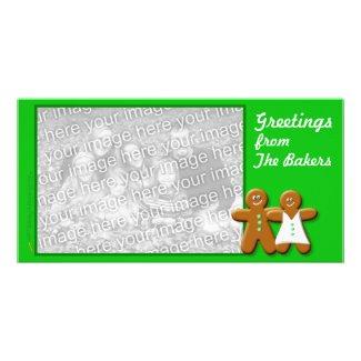 Gingerbread Photo Card Template (couple) photocard