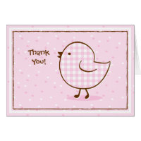 Gingham Chick Thank You Notes