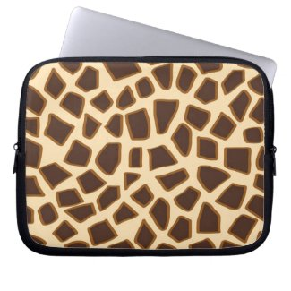 Giraffe animal brown pattern computer sleeve