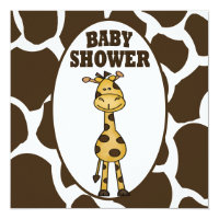 Giraffe Baby Shower Invitation