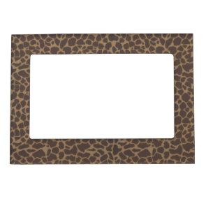 Giraffe Pattern Skin Background Magnetic Photo Frames