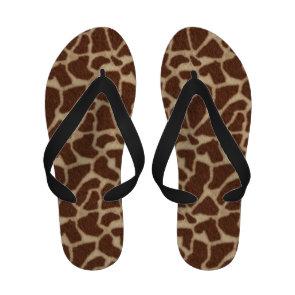 Giraffe Pattern Skin Background Sandals