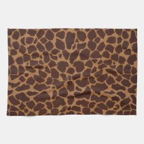 Giraffe Skin Print Pattern Kitchen Towel