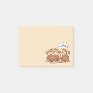 Girlfriend Looks Like Mom Funny Monkey Post-it Notes