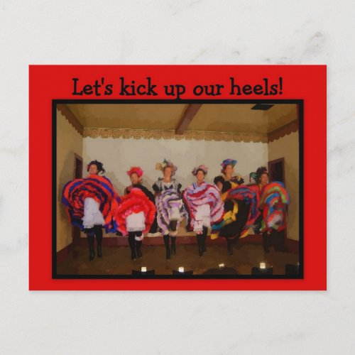 Girls Night Out Wild West Dance Hall Girls postcard