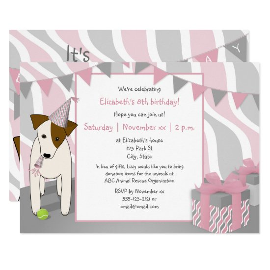 child s dog themed party invites and