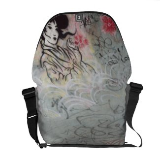 Girly Graffiti Messenger Bags