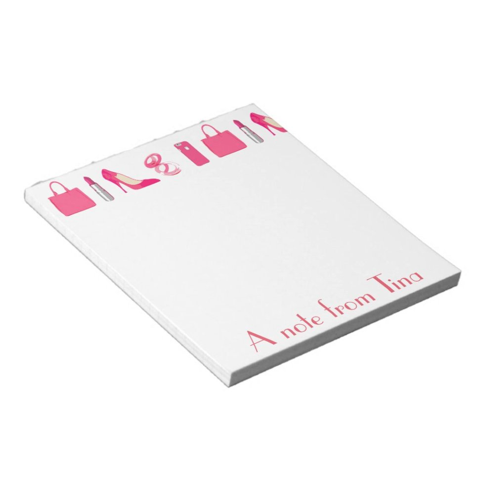 Girly things design notepad