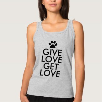 Give Love Get Love Dog Paw Print Tank Top
