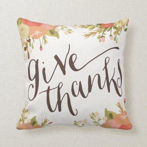 Give Thanks | Thanksgiving Throw Pillow