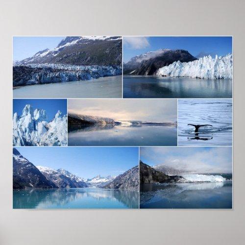 Glacier Bay Alaska Poster print