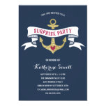 Glam Anchor | Nautical Surprise Birthday Party Invitation