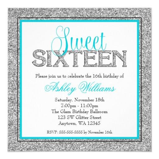 Custom Made Sweet 16 Invitations
