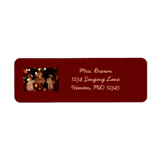 Glass Christmas Angels Address Label