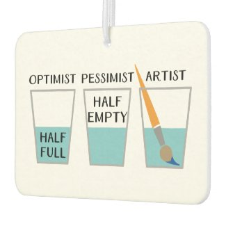 Glass Half Full Funny Meme Air Freshener