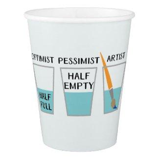 Glass Half Full Funny Meme Paper Cup