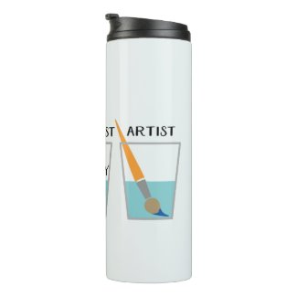 Glass Half Full Funny Meme Thermal Tumbler