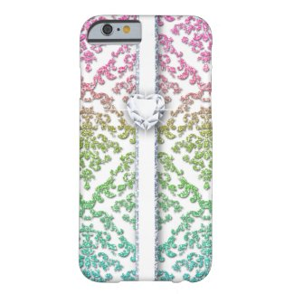 Glitter Damask Love Cell Phone Cover Barely There iPhone 6 Case