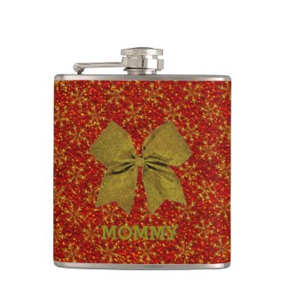 Glittered Christmas Hip Flasks