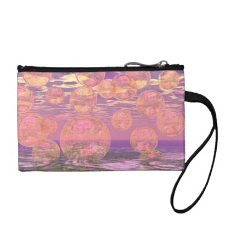 Glorious Skies – Pink and Yellow Dream Abstract Change Purse