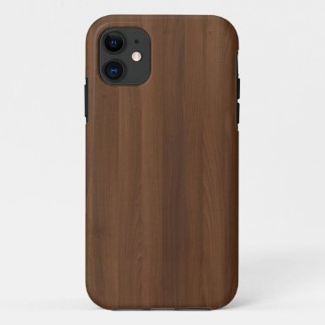 Glossy Chocholate Wood Grain iPhone 11 Case