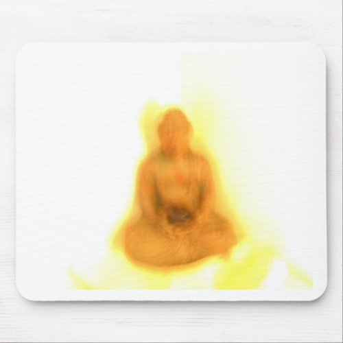 Glowing Buddha mousepad