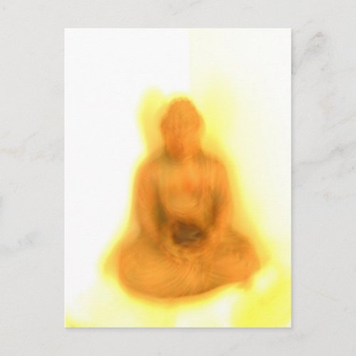 Glowing Buddha postcard
