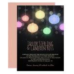 Glowing Rainbow Lanterns Wedding Invitation
