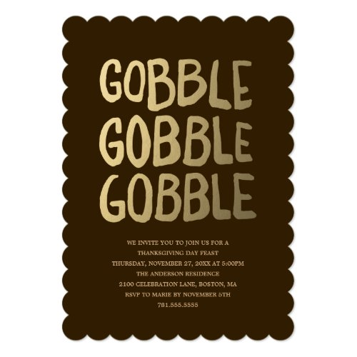 Gobble | Thanksgiving Dinner Invitation