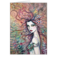 Goddess of Flowers Card by Molly Harrison