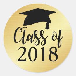 2018 Graduation Stickers Zazzle