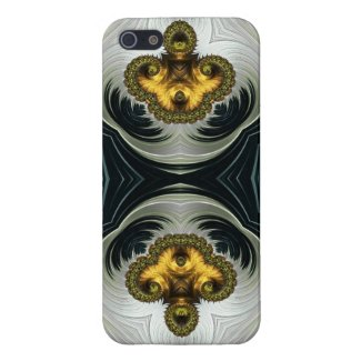 Gold and White Elegant Fractal Iphone5/5s Case