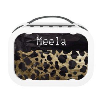 Gold/Black Fancy Cheetah YUBO lunchbox