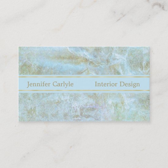 Gold Blue Abstract Professional Business Card