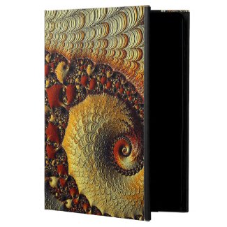 Gold/Burgundy fractal POWIS iPad air Case