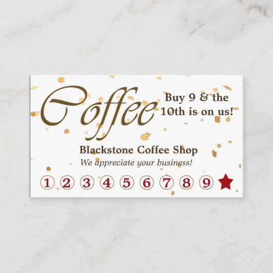 Gold Confetti Coffee Loyalty