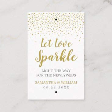 Gold Confetti Wedding Sparkler Tag | Custom Color