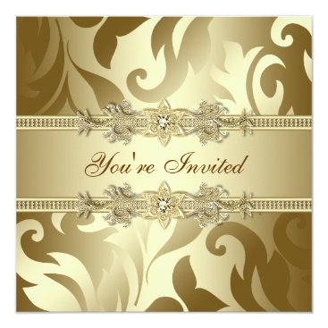 Gold Corporate Christmas Party Invitation
