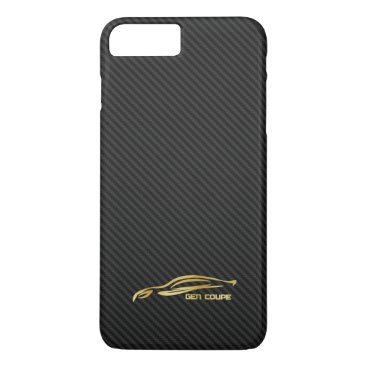 Gold Hyundai Genesis COUPE Logo iPhone 7 Plus Case