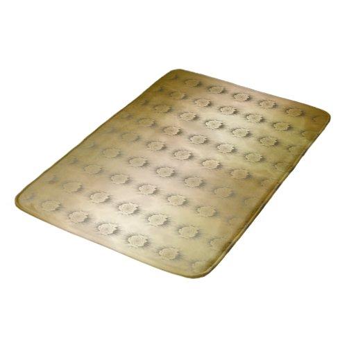 Gold Marble Rosette Tiled Bath Mat